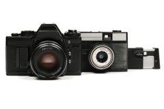 Macchine fotografiche sovietiche Fotografia Stock Libera da Diritti