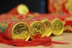 Macchine per fare i popcorn tradizionali cinesi del partito del nuovo anno Immagine Stock Libera da Diritti