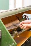 Macchine per il lavoro con il legno fotografia stock