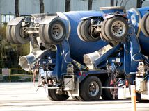 Macchine posteriori del miscelatore di cemento di scarico Immagini Stock Libere da Diritti