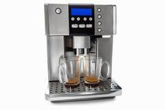 Macchinetta del caffè automatica per due tazze di caffè Immagini Stock Libere da Diritti
