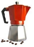 Macchinetta del caffè del geyser Fotografia Stock