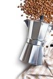 Macchinetta del caffè italiana Immagini Stock