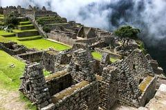 Macchu Picchu难以置信的废墟在秘鲁在南美 库存照片