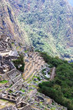 Macchu Picchu on background of mountains Royalty Free Stock Photo