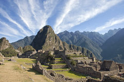 Macchu Picchu clouds Royalty Free Stock Photography