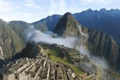 Macchu Picchu morning mist Stock Images