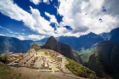 Macchu Picchu old town Royalty Free Stock Images