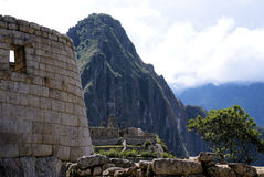 Macchu Pichu. Photos of the ancient city of Macchu Pichu and the incredible mountains of Peru Stock Photo