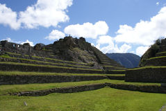 Macchu Pichu. Photos of the ancient city of Macchu Pichu and the incredible mountains of Peru Stock Photos
