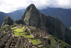 Macchu Pichu. Photos of the ancient city of Macchu Pichu and the incredible mountains of Peru stock photography