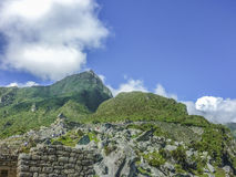 Macchu Pichu Architecture Low Angle View Royalty Free Stock Photography