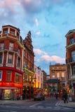 Macclesfield gatakineskvarter Soho W1 London UK Royaltyfri Bild