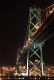 MacDonald Bridge. At night in Halifax Nova Scotia Stock Photography