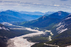 MacDonald Creek glacial valley BC Canada stock photo