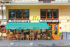 MacDonalds restaurant in Lviv, Ukraine Stock Photography
