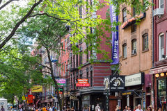 Macdougal ulica w greenwichu village w Miasto Nowy Jork Fotografia Royalty Free
