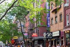 Macdougalstraat in het Dorp van Greenwich in de Stad van New York Royalty-vrije Stock Fotografie