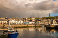 Macduff harbor town Stock Photography