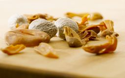 Mace and Nutmeg Royalty Free Stock Photography