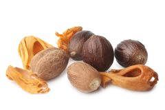 Mace with nutmeg royalty free stock image