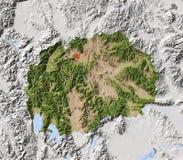 Macedónia, mapa de relevo protegido Ilustração do Vetor