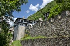 Macedônia - St John Monastery, monastério de Mavrovo - de Bigorski imagens de stock royalty free