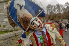 Maceda - carnaval galicien - l'Espagne Photo stock