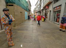 Maceda - carnaval galicien - l'Espagne Image stock
