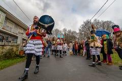 Maceda - Galiciankarneval - Spanien Arkivfoto