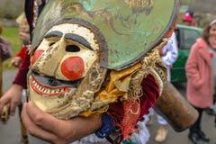 Maceda - Galiciankarneval - Spanien Arkivbilder