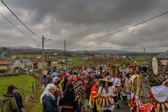 Maceda - Galiciankarneval - Spanien Arkivfoton