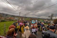 Maceda - Galicisch Carnaval - Spanje Royalty-vrije Stock Foto's