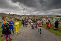 Maceda - Galicisch Carnaval - Spanje stock afbeelding