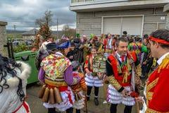 Maceda - galizischer Karneval - Spanien Lizenzfreies Stockfoto