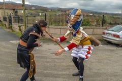 Maceda - galizischer Karneval - Spanien Stockfotografie
