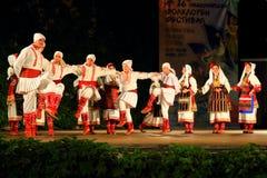 Macedońscy tancerze przy Varna lata Theatre reżyserują Bułgaria fotografia royalty free