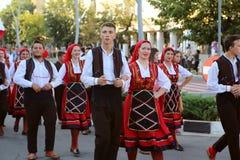 Macedońska krajowa kostium parada Zdjęcia Stock