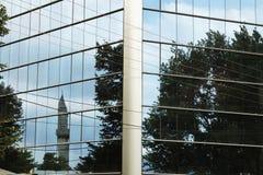 Macedonië, Skopje, Bezinning van een Minaret Royalty-vrije Stock Afbeeldingen