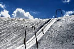 macedoni mavrovo手段滑雪 库存图片