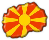 Macedonia button flag map shape Royalty Free Stock Photos