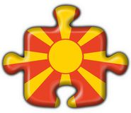 Macedonia button flag puzzle shape Royalty Free Stock Image