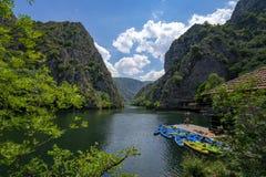 Macedonia Canyon Matka Boat Ride in the valley royalty free stock photos