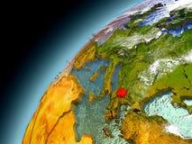 Macedonia de la órbita de Earth modelo Imagen de archivo