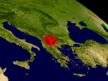 Macedonia del espacio Fotografía de archivo