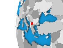 Macedonia en el globo Imagen de archivo
