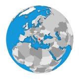 Macedonia en el globo Imágenes de archivo libres de regalías