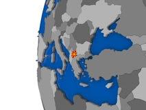 Macedonia en el globo Fotos de archivo libres de regalías