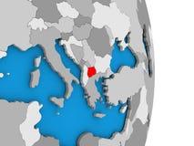 Macedonia en el globo Imagenes de archivo
