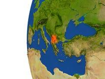 Macedonia en el globo Fotografía de archivo libre de regalías